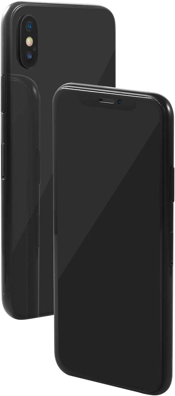Aluminum Frame Replica Dummy Phone Display Fake 1:1 Scale Non-Working Phone Dummy for New Phone (X Grey Black Screen)