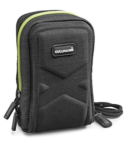 Cullmann - 91590 - Bolsa de cámara Oslo Compact 400 para cámaras compactas (Dimensiones Interiores 70x120x50mm), Negro/limón
