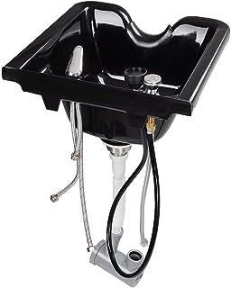 Smudam Shampoo Bowl Hair Sink w/Gel Neck Rest Hair Trap CUPC Vacuum Breaker Barber Salon Spa Mounting Ability