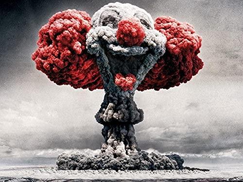 DGSJH Rompecabezasde1000 PiezasBomba atómica Explosión de Nube en Forma de Hongo PapelRompecabezasDescomprimiendo 38x26cm