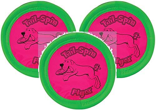 Booda 3 Pack Tail-Spin Flyer Dog Toys, 7-Inch (Оne Расk)