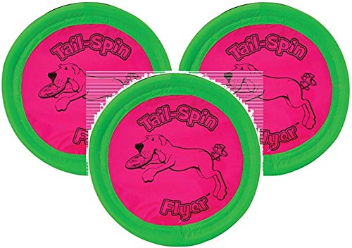 Booda 3 Pack Tail-Spin Flyer Dog Toys, 7-Inch (Оne Расk)