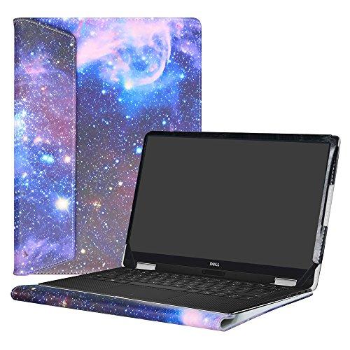 """Alapmk Diseñado Especialmente La Funda Protectora de Cuero de PU Para 13.3"""" Dell XPS 13 9370 9360 9350 9343/XPS 13 2 in 1 9365 Ordenador portátil,Galaxy"""