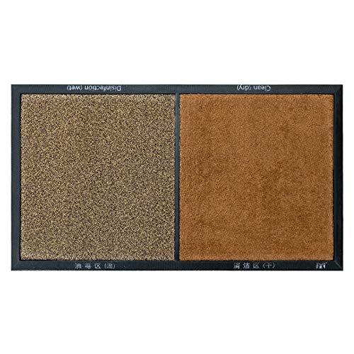 Felpudo desinfectante Exterior, Alfombra Antideslizante para Puerta de Entrada, Alfombrilla Impermeable de fácil Limpieza (60x90 MarronClaro)