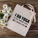 I Do Yoga Porque Punching People is Frowned Upon - Bolsa de la compra - Regalos para los amantes del yoga - Regalo de yoga - Bolsa de la compra - Yoga