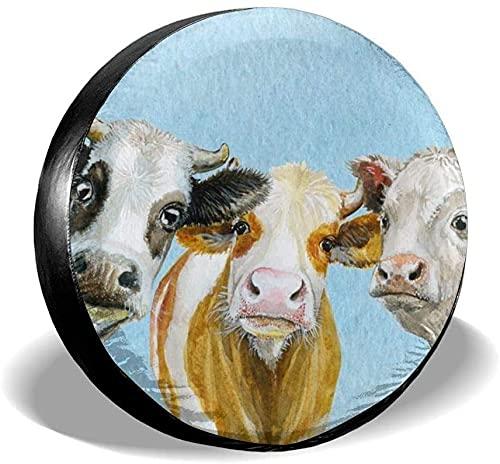 MODORSAN Cute Cows - Funda para neumático de Repuesto,poliéster,Universal,de 15 Pulgadas,para Rueda de Repuesto,para Remolque,RV,SUV,camión,camión,Camper,Viaje,Remolque,Accesorios