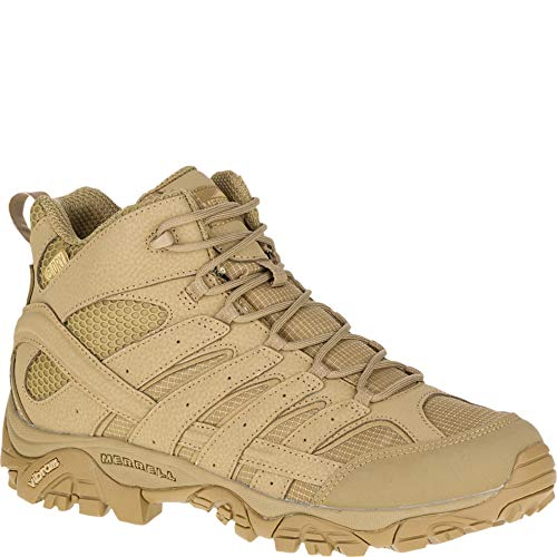 Merrell Mens Moab 2 Mid Tactical Wp, Color: Coyote, Size: 9, Width: M (J15849-9)