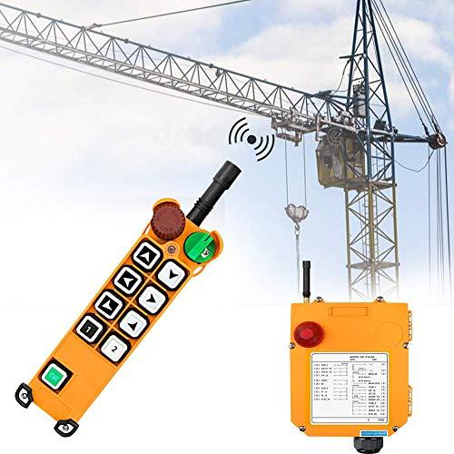MXBAOHENG Mando para Grua Mando Puente Grua Con Función de Autobloqueo 220V Mando para Polipasto Mando Grua(1 transmisor y 1 receptor)