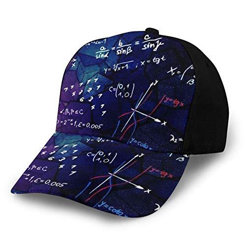ZORIN Gorra de béisbol Matemáticas Fórmula Blackboard 3D Hip Hop Snapback Sombrero de camionero al aire libre