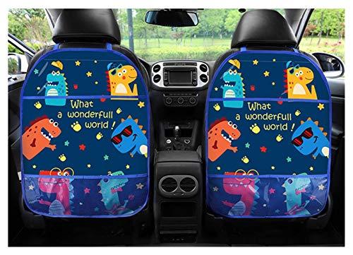 Mizuho Dibujos Animados de Carro Asiento Trasero Protector Cubierta Organizador de automóviles Tablet Soporte Colgante Bolsa de Coche Estilo Titular de Almacenamiento Patada Mat Mat Accesorios