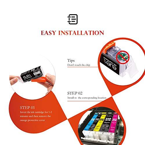 ejet 30er Pack 550XL 551XL Kompatible Tintenpatronen Ersatz für Canon PGI-550 CLI-551 zur Verwendung mit Canon PIXMA IP7250 IP8750 MX925 MG5650 IX6850 MX725 MG5550 MG6350 MG6450 MX920 (30er Pack)