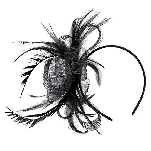 Baoblaze Chapeau Nuptiale Plumes Cheveux Clip Accessoires Cocktail Party Roaring 20s Headpieces