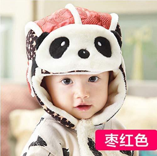 LIOOBO Winter Oor Masker Hoed, Kinderen Winter Bomber Hoeden Voor Kinderen Jongens Meisjes Cartoon Panda Fleece Gevoerd Winddicht Masker Leuke Oordopjes Piloot Warm Rode Hoed Mode Reizen Outdoor