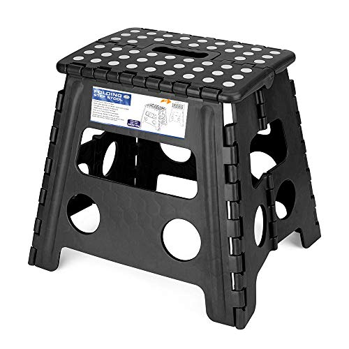 Acko Folding Step Stool - 13 inch Premium Heavy Duty Foldable Stool for Kids and Adults, Kitchen Garden Bathroom Stepping Stool (1 Pack)