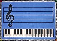 """PIANO PRACTICE プレミアムカットパイルステンレスマスターナイロンエリアラグ 10'9""""x13'2"""" J1806w/keys"""