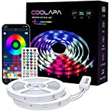 Led Strip Lights, COOLAPA 20M (65.6 FT) RGB Strips Lighting, with Remote & Box for Bedroom Home Kitchen, Decoration, APP Control Light Strip with Bright 5050 LEDs, 2pc x 10m