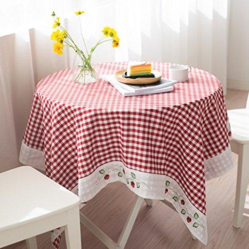 Nappe, rond, nappe, carré, treillis, table, rectangulaire, petit, frais, art, nappe (Size : 140 * 200cm)