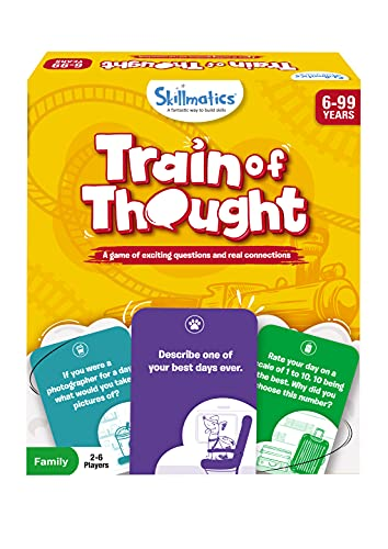 Skillmatics Card Game : Train of Thought   Gifts, Travel & Family Party Game for Ages 6 and Up