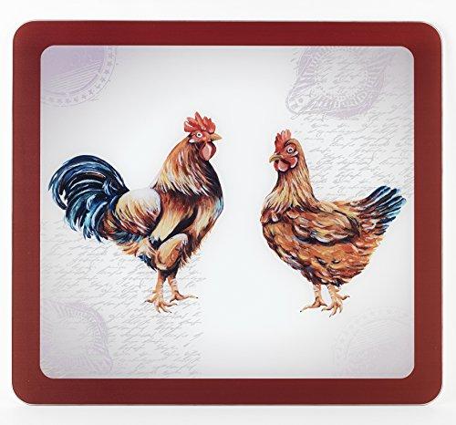 WENKO Crédence de cuisine en verre Ferme - Protège-plaque pour plaques de cuisson vitrocéramiques et induction, planche à découper, Verre trempé, 56 x