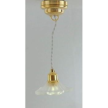Casa de muñecas Lámpara de Techo Iluminación Miniatura De Batería LED de Luz Disco