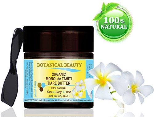 Monoï de Tahiti Tiare Butter BIO 100% natürlich / 100% reine Pflanzen / unscented - 60 ml. Für Haut, Haare und Nagelpflege.