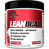 Evlution Nutrition LeanBCAA, BCAAs, CLA and L-Carnitine, Stimulant-Free, Recover and Burn Fat, Sugar and Gluten Free, 30 Servings (Fruit Punch)