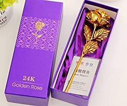 HANDICRAFT MALL 24k Golden Rose for Gifts and Home Decor Flower