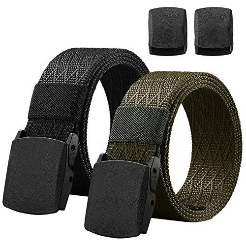 2 Piezas De Cinturon Hombre, Cinturon Infinitamente De Nylong Forma Flor Ajustable Con Hebilla Hombre Y Mujer