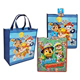 Paw Patrol Large Tote Bag - 2 Reusable Bag for Gift bag, Party favors, grocery bag, lunch (PP - L, 2)