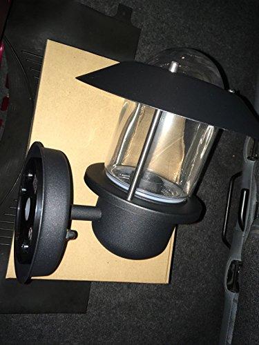 IKEA UPPLID wandlamp zwart buiten 20 cm