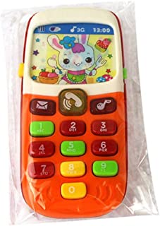 Lindahaot Electronic Toy Phone Kids Mobile Phone Cellphone Educational Learning Toys Baby Telephone Gift