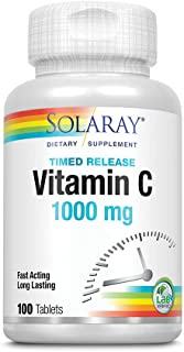 Solaray - Vitamin C Time Release, 1000 mg, 100 tablets