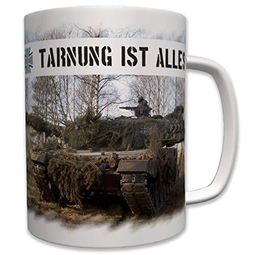 Tarnung Ist Alles Bundeswehr Panzer Panzertruppe Tarnen Leopard 2- Tasse #7377