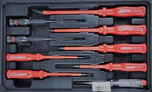 Mannesmann - M29065 - Gama de herramientas del hogar en maletín abatible