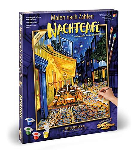 Schipper 609130359 Malen nach Zahlen, Nachtcafé von Vincent Van Gogh - Bilder malen für Erwachsene, inklusive Pinsel und Acrylfarben, 40 x 50 cm
