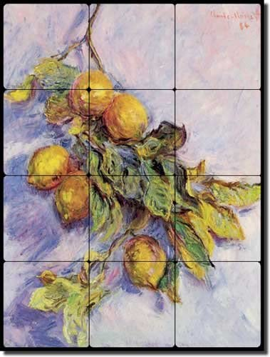 Lemons on a Branch Atlanta 5 ☆ popular Mall by Claude - Fruit Marble Monet Tumbled Oscar