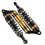 WildBee 340mm 13.5 Pouce Universel Amortisseur Suspension Arrière Compatible avec Plus ATV Faire du Kart Quad Moto Cross Moto Noir Or