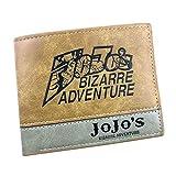 WANHONGYUE JoJo's Bizarre Adventure Anime Billetera de Cuero Artificial Cartera Corta Portatarjetas para Hombre / 1