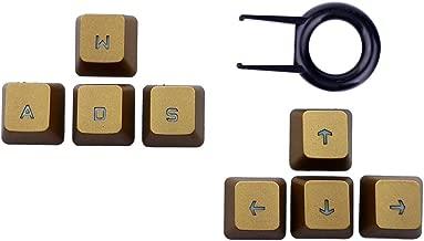 Arrow Keys ↑↓←→ Replacement Keycaps for Logitech G810 G413 G310 G910 G613 Keyboard Romer G (Up Down Left Right Keys) (Gold)