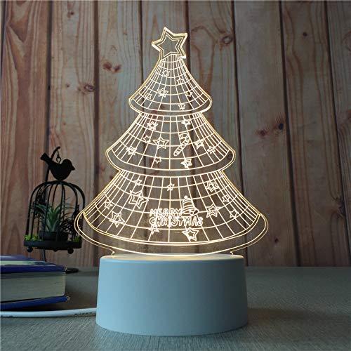 Decoración del hogar Dormitorio Luz de Noche Chica Corazón Creativo Lámpara de Mesa 3D Niños nórdicos Luz de Dibujos Animados Árbol de Navidad 3