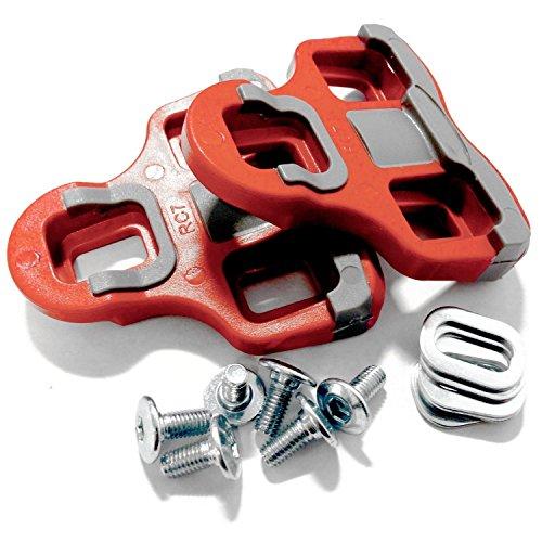 Velochampion Cleats Kompatibel Mit Dem Modell 'Look Keo' Grip-Pedal 6 Grad Float Rot
