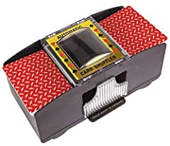 """2 DECK CARD SHUFFLER, Automatic, 2 Deck Plastic Card Shuffler Requires (2) C Batteries (Not Included) AUTOMATIC CARD SHUFFLER Dimensions (W x L x H) = 8.125"""" x 4.25"""" x 3.75"""" Color Box Size (W x L x H) = 8.25"""" x 3.75"""" x 4.55"""" CARD SHUFFLERS Are Fantas..."""