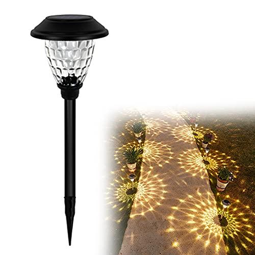 Luces Solares Jardín, Impermeable IP65 Lámpara LED Paisaje, Encendido/Apagado Automático Batería de 600mAh, Lámpara Solar Decorativa para Exterior Camino Césped Patio Camping