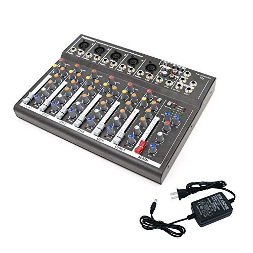 Buy 4/7 Channel Professional Powered Mixer Power Mixing Live Studio Audio Sound DJ-Mixer Mixing Cons...