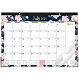 """🌸 MONTHLY OVERVIEW - 18 monthly desk calendar covers from June 2021 - December 2022. Large monthly overview pages (12'' x 16.8"""") give you a better future vision to plan. 🌸 SUFFICIENT LINED BLOCKS - Large, ruled daily blocks ample space in this desk c..."""