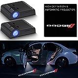 2Pcs Car Door Logo Light Projector for Dodge,LED Wireless Ghost Shadow Lights,Laser Door W...