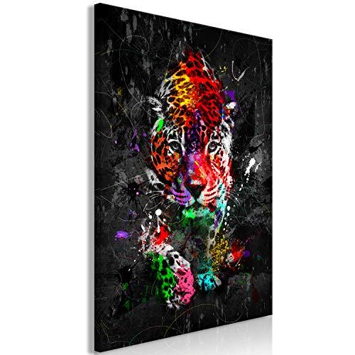 murando - Bilder Leopard 30x45 cm Vlies Leinwandbild 1 TLG Kunstdruck modern Wandbilder Wanddekoration Design Wand Bild - Tiere Afrika Farbflecken g-A-0244-b-a