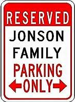 金属看板ジョンソンファミリーパーキングノベルティスズストリートサイン