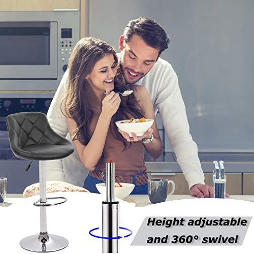 BestOffice Hydraulic Swivel Dinning Bar Stool B01