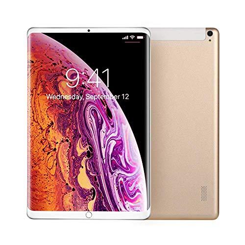 L.BAN Tablet PC admite Llamadas 4G WiFi Sistema Android 10 Pulgadas Dorado/Plateado/Rojo 4G + 64G Memoria cámara Dual 500W + 1200W píxeles
